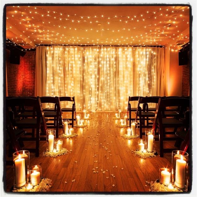 Candlelight Wedding Ceremony: Wedding Ceremony Aisle Decor